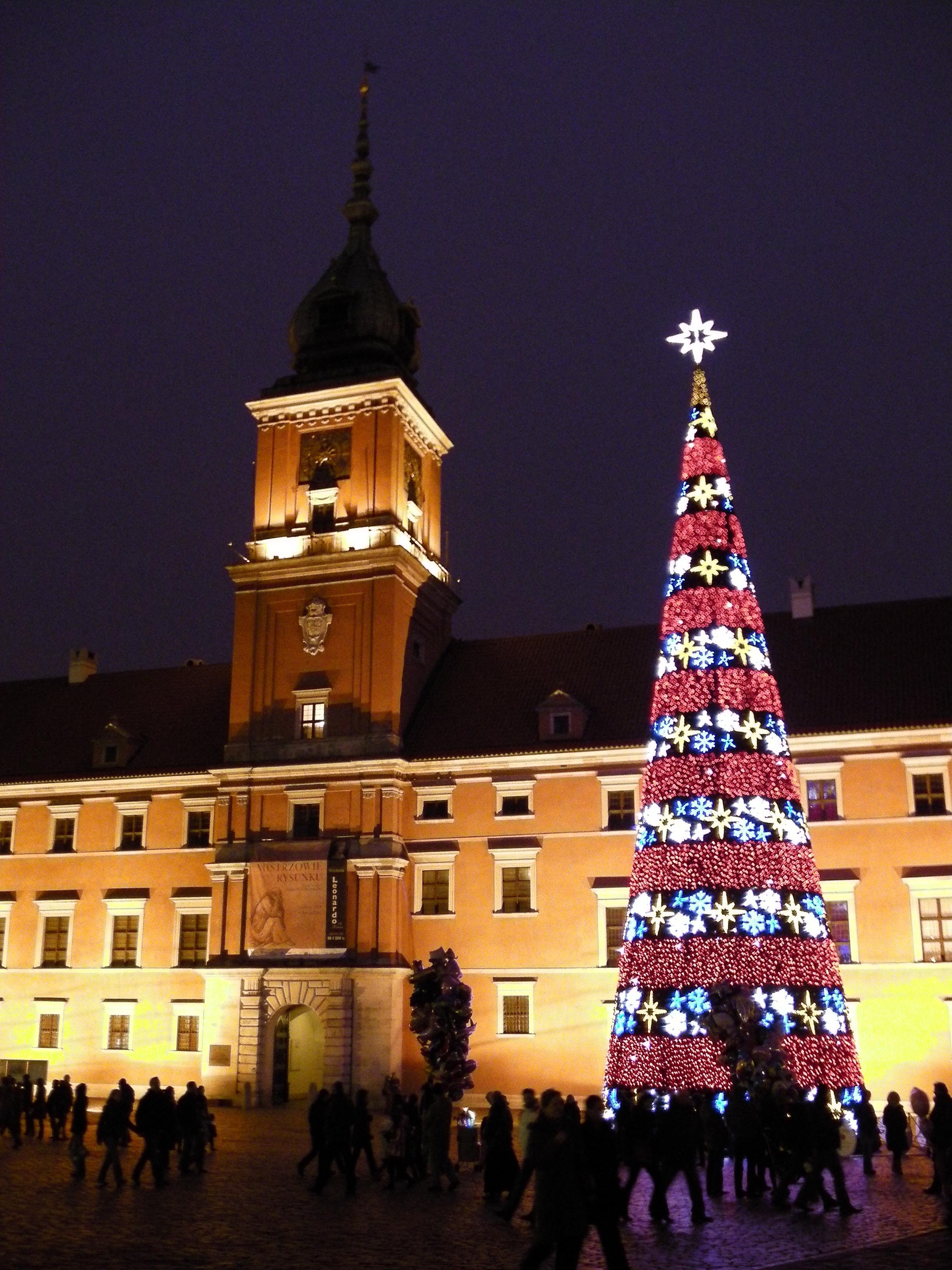 Warsaw Royal Palace At Christmas