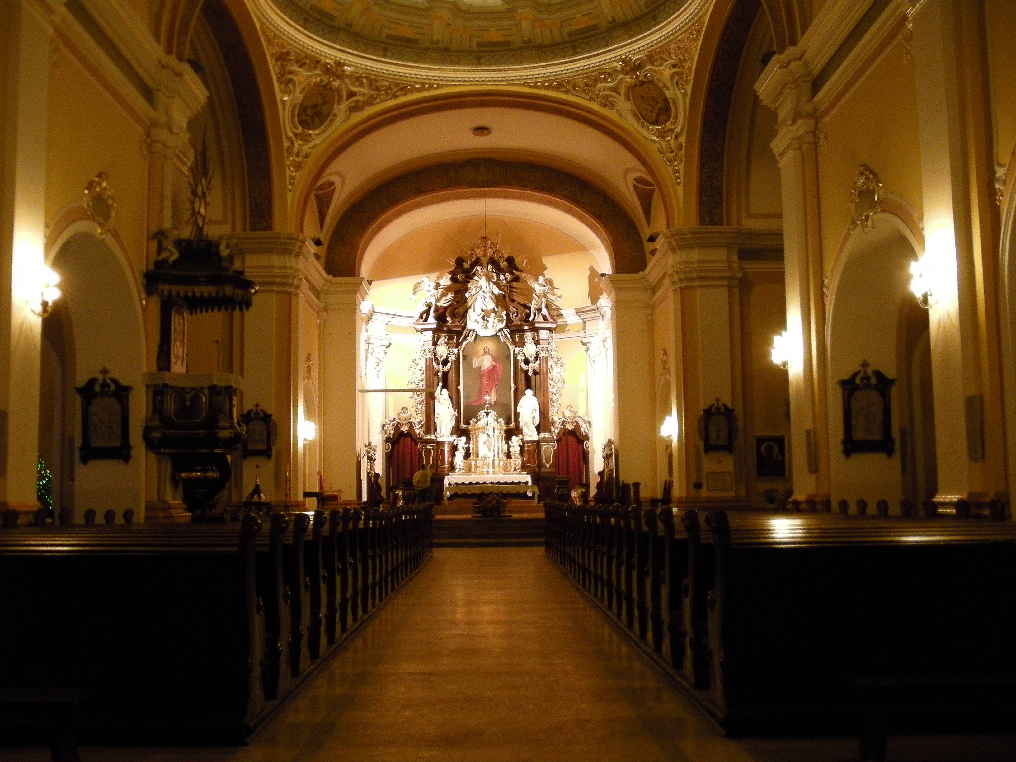 Church Interior, Bydgoszcz, Poland.