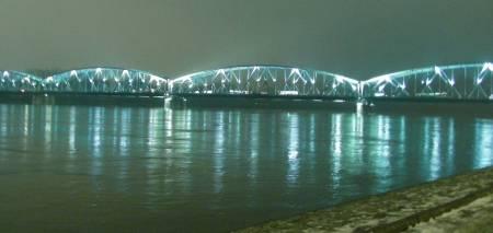 River Wisla and Bridge, Torun, Poland