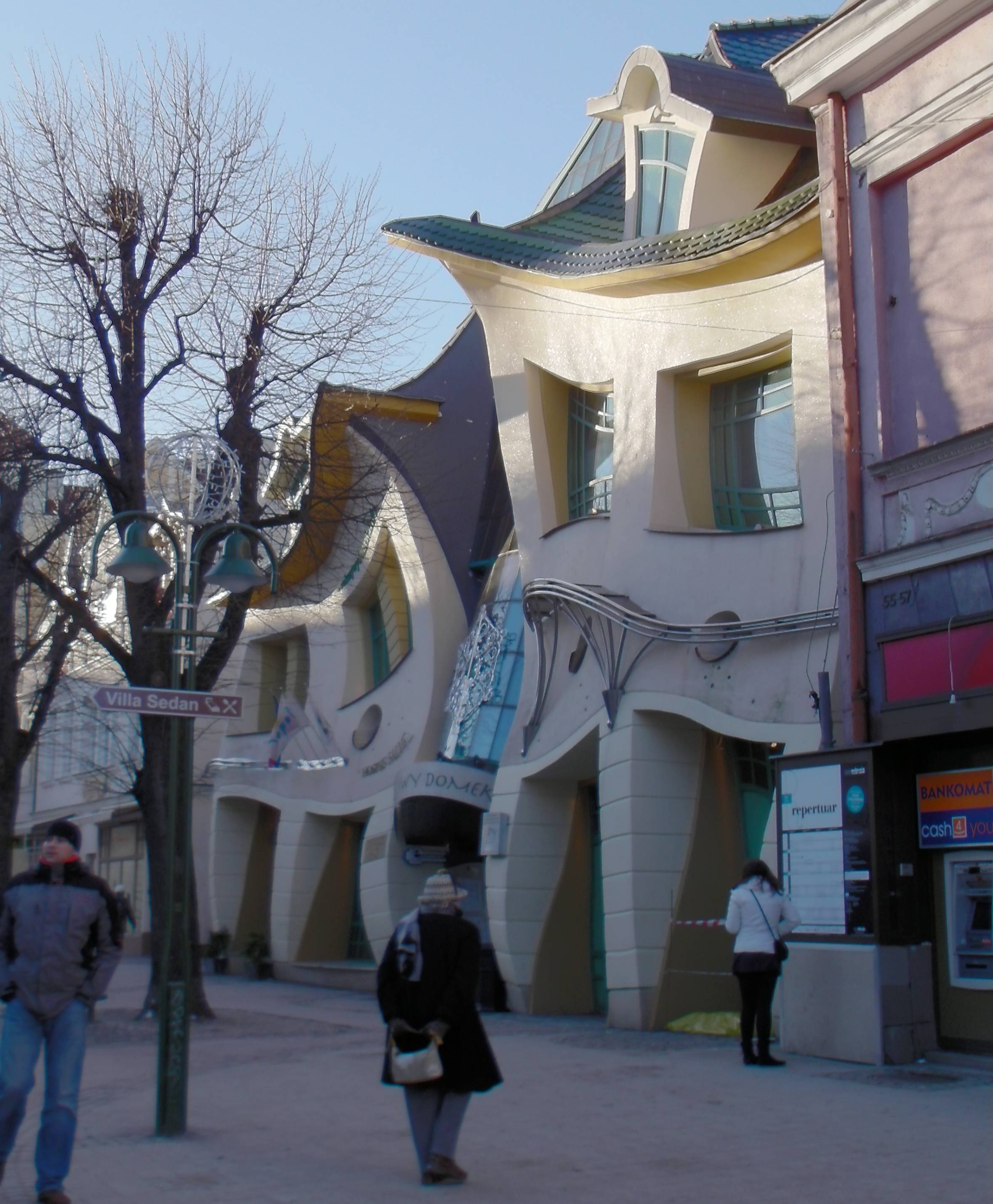 Funky building in Sopot, Poland.