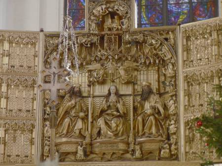 St. Mary's Church altar, Gdańsk, Poland
